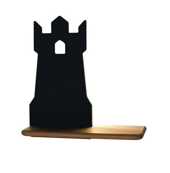 Lampa kinkiet półeczka 5W LED 4000K IQ Kids Tower czarny 21-84712