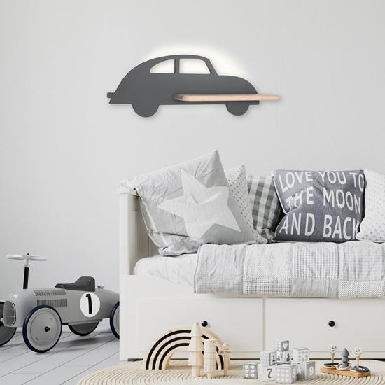 Lampa kinkiet półeczka 5W LED 4000K IQ Kids Car szary 21-84774