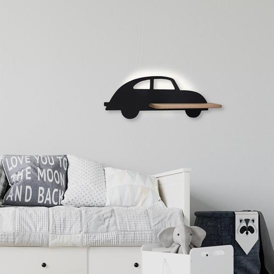 Lampa kinkiet półeczka 5W LED 4000K IQ Kids Car czarny 21-84781