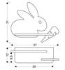 Lampa kinkiet półeczka 5W LED 4000K IQ Kids Rabbit szary+biały 21-84743