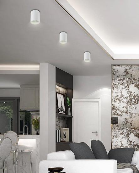 Lampa sufitowa biała oprawa oczko 15W GU10 Tuba 2226026
