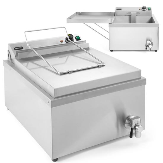 Smażalnik frytownica maszyna do smażenia pączków ryb z półką 12 l 3500 W - Hendi 205914