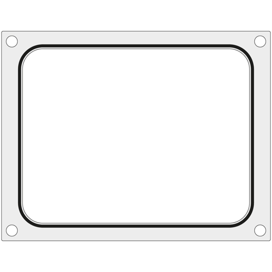Matryca forma do zgrzewarki Hendi na tackę pojemnik bez podziału 227x178 mm - Hendi 805572