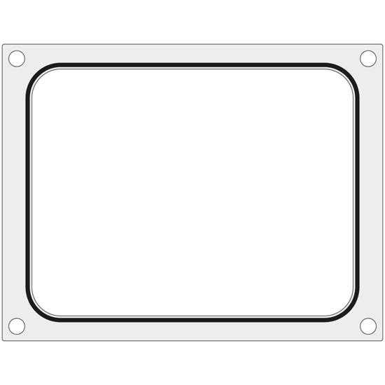 Matryca forma do zgrzewarek BOKAMA na tackę bez podziału 227x178 mm - Hendi 805879