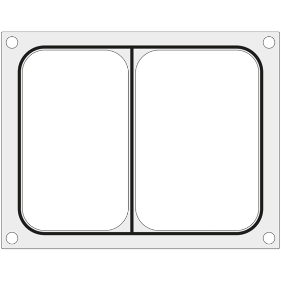 Matryca forma do zgrzewarek BOKAMA na tackę dwudzielną 227x178 mm - Hendi 805893