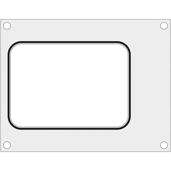 Matryca forma do zgrzewarek BOKAMA na tackę bez podziału 187x137 mm - Hendi 805954