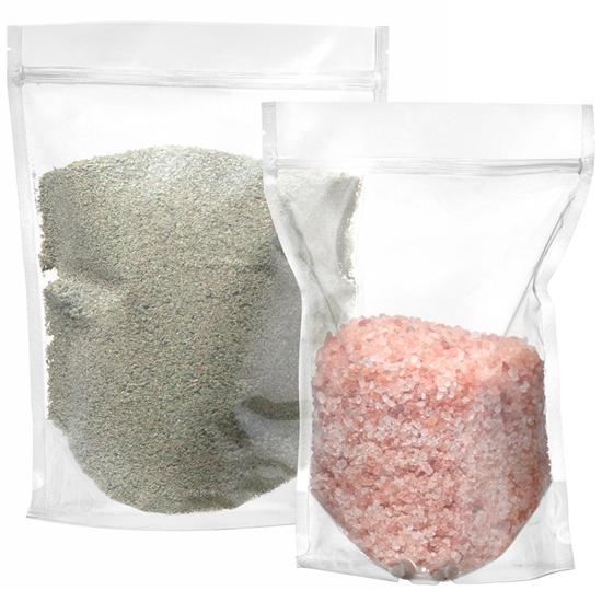 Worki torebki strunowe do przechowywania typu doypack przezroczyste 250 ml 100 szt. - Hendi 429082