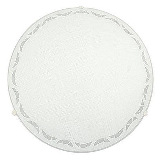 Plafon szklany okrągły biały E27 60W lampa Mewa 13-46607