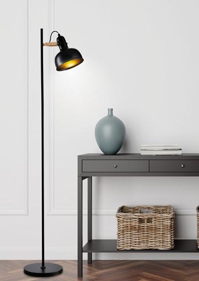 Lampa podłogowa czarna metalowa regulowana Reno 51-80196