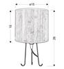 Lampa stołowa gabinetowa druciane nóżki sosna Adora 41-03300