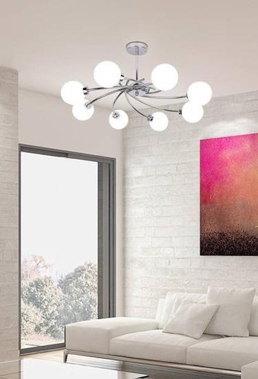 Lampa sufitowa chromowa regulowana 8x40W Ampla Agapant 38-03348