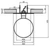 Oprawa stropowa niebieska szklana kulka SK-13 2264343