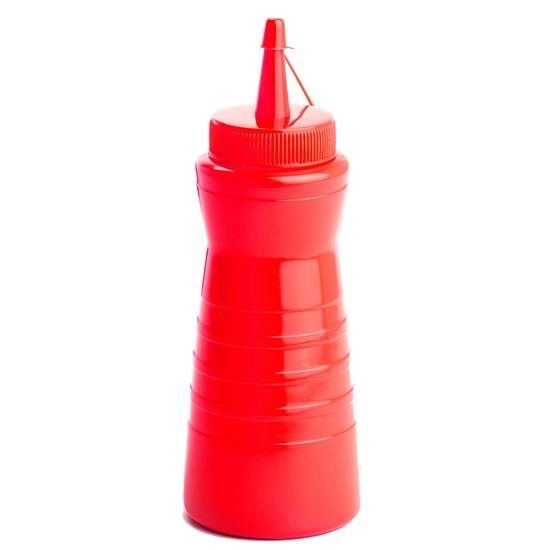 Dyspenser dozownik do sosów zimnych Easy Squeeze 600ml czerwony - Hendi 558430