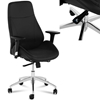 Fotel biurowy tapicerowany na kółkach obrotowy regulowany czarny