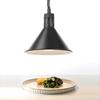Lampa do podgrzewania potraw - wisząca stożkowa czarna śr. 275mm 250 W - Hendi 273845