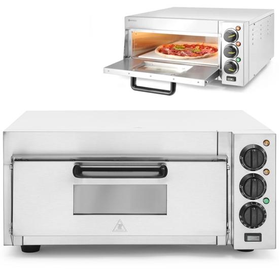 Piec do pizzy jednokomorowy na 1 dużą pizzę 2000 W 230 V - Hendi 220290