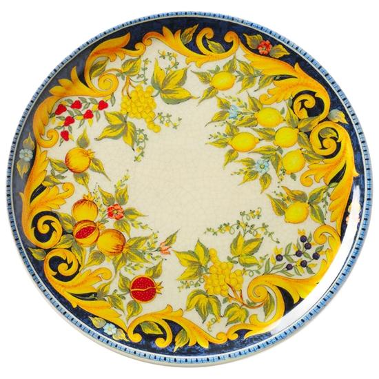 Talerz do pizzy z porcelany wytrzymały Blackboard Napoli śr. 33 cm - Hendi 777855