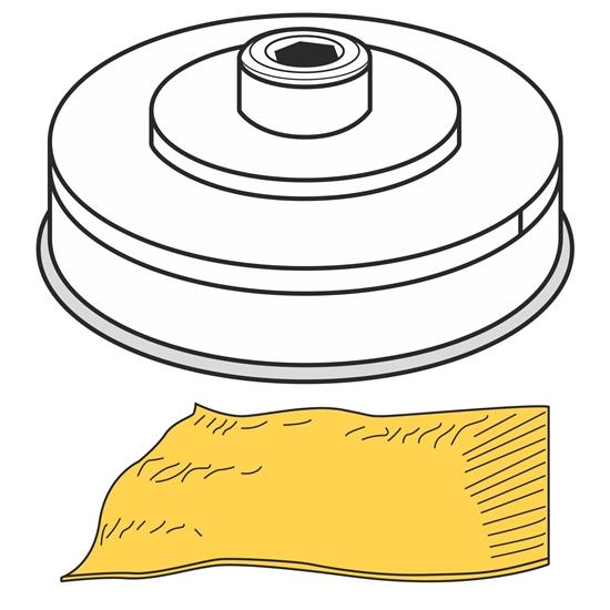 Końcówka do wyrobu makaronu PASTA SFOGLIA ciasto francuskie dł. 155 mm gr. 1-4 mm MPF2.5/4 - Hendi 229392