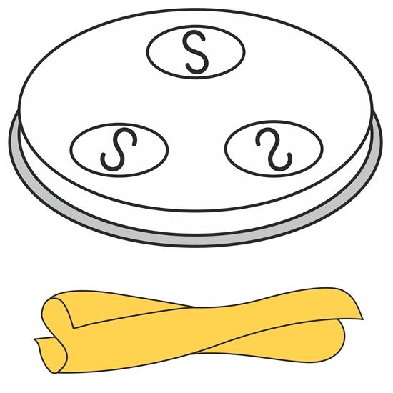 Końcówka sitko do wyrobu makaronu CASERECCE domowy 5 otworów 9x5 mm MPF2.5/4 - Hendi 229378