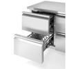 Stół chłodniczy z 4 szufladami i agregatem bocznym nierdzewny Profi Line 280 l - Hendi 233764