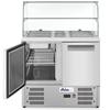 Stół chłodniczy sałatkowy 2-drzwiowy z nadstawą szklaną na 2x GN1/1 3x GN 1/6 247 l - Hendi 236185