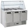 Stół chłodniczy sałatkowy 3-drzwiowy z nadstawą szklaną na 4x GN1/1 368 l - Hendi 236192