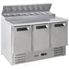 Stół chłodniczy sałatkowy 3-drzwiowy z nadstawą na 8x GN1/6 368 l - Hendi 236239