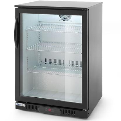 Lodówka chłodziarka barowa sklepowa na napoje 1-drzwiowa 3 półki 135 W 126 l - Hendi 226568
