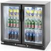 Lodówka chłodziarka barowa sklepowa na napoje 2-drzwiowa 4 półki 215 W 180 l - Hendi 235829