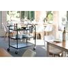 Wózek cateringowy kelnerski do serwowania 3-półkowy do 150 kg czarny matowy - Hendi 811320