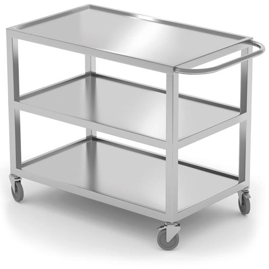 Wózek cateringowy kelnerski spawany mobilny 3-półkowy do 240 kg - Hendi 810224