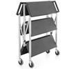 Wózek transportowy gastronomiczny mobilny składany 3 półki do 90 kg - Hendi 810231