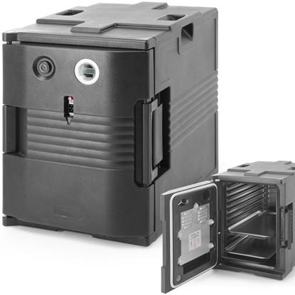 Pojemnik termiczny termoizolacyjny cateringowy z funkcją podgrzewania do 68C 2x GN1/1 200 W - Hendi 707692