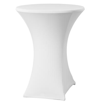 Obrus okrągły bez prasowania śr. 80cm tkanina Jersey biały - Hendi 813157