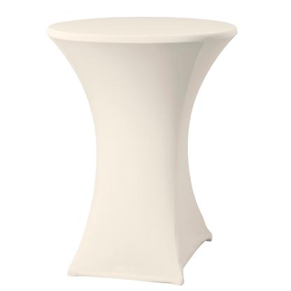 Obrus okrągły bez prasowania śr. 80cm tkanina Jersey kremowy - Hendi 813171
