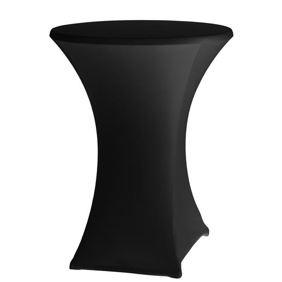 Obrus okrągły bez prasowania śr. 80cm tkanina Jersey czarny - Hendi 813164
