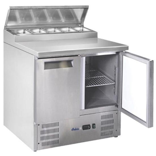 Stół chłodniczy sałatkowy 2-drzwiowy z nadstawą - Hendi 236222