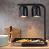 Lampa grzewcza do podgrzewania frytek potraw czarna 500 W - Hendi 273913