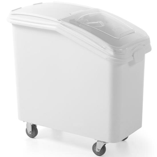 Pojemnik wózek gastronomiczny na produkty sypkie cukier kasze ryż na kółkach 81 l - Hendi 877913