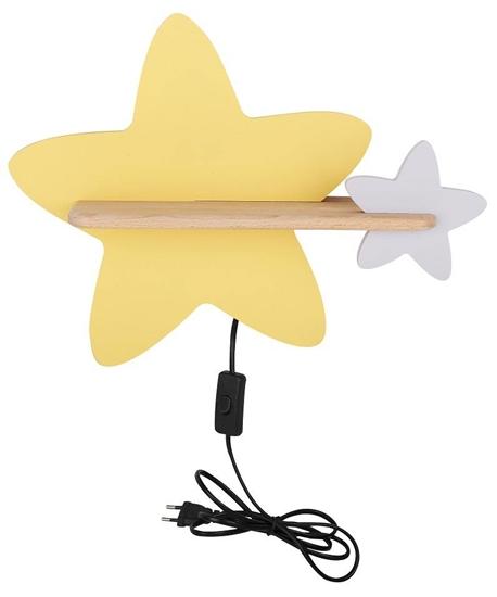 Lampa kinkiet półeczka 5W IQ Kids z przewodem z wł. i wtyczką Star Candellux 21-75734