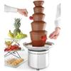 Fontanna do czekolady fondue 5 poziomów stalowa 265 W - Hendi 274156