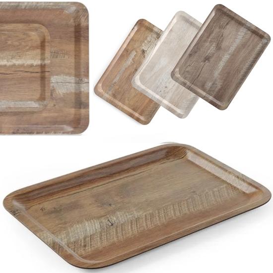 Taca do serwowania laminowana drewno 430 x 330 mm - Hendi 508879