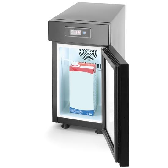 Lodówka chłodziarka na mleko do ekspresu z wyświetlaczem temperatury 75 W - Hendi 232835