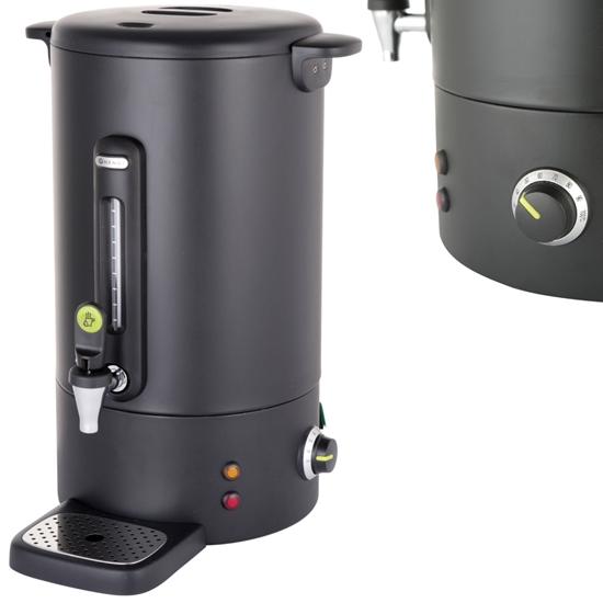 Warnik podgrzewacz do kawy z niekapiącym kranem czarny Concept Line 18 l - Hendi 211465