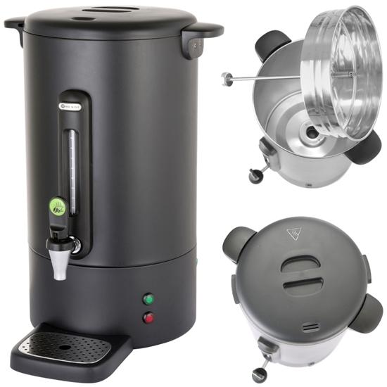 Zaparzacz perkolator do kawy z niekapiącym kranikiem czarny Concept Line 13 l - Hendi 211489