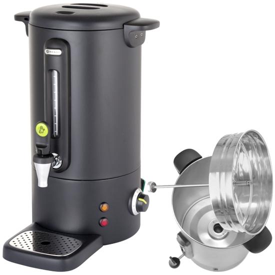 Warnik podgrzewacz do kawy z niekapiącym kranem czarny Concept Line 10 l - Hendi 211458