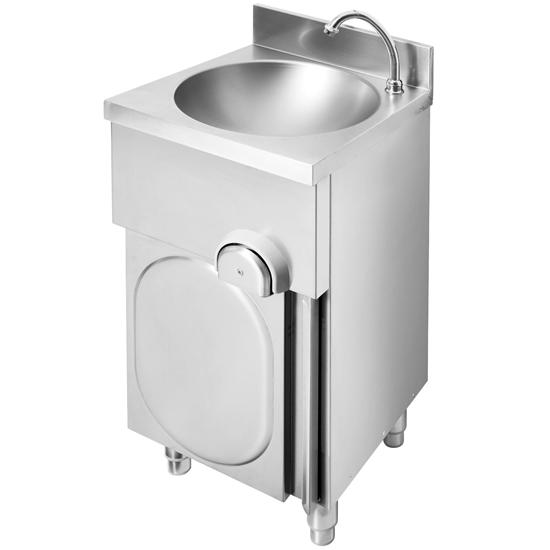 Umywalka gastronomiczna bezdotykowa wolnostojąca z misą okrągłą śr. 34 cm - Hendi 809990