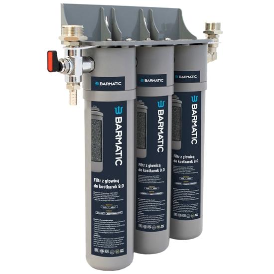 Filtr wody z głowicą do kostkarek łuskarek do lodu 9.0 wydajność 90 tys. l - Hendi 947036