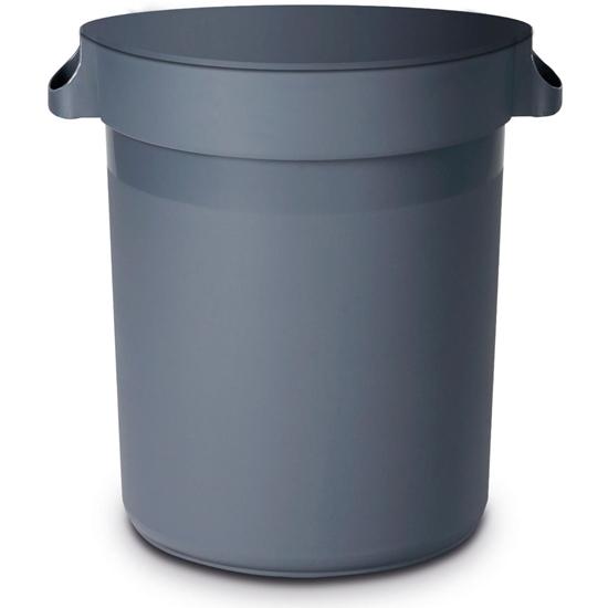 Kosz pojemnik kontener na śmieci odpadki okrągły stojący Amer Box śr. 50 cm 80 l - Hendi 691403
