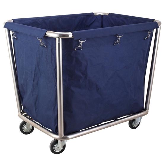 Wózek kosz serwisowy hotelowy na pranie pościel ze stali nierdzewnej - Hendi 691083